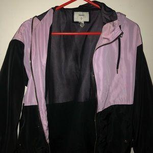 Black and Purple Bomber Jacket